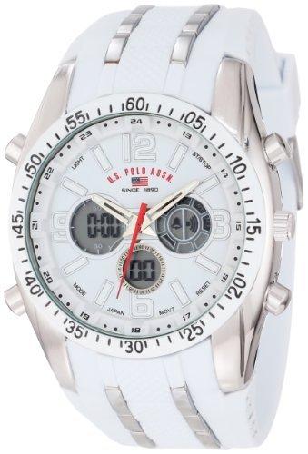 El deporte de los hombres reloj cronógrafo us9282 color blanco de atletismo