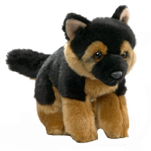Carl Dick German Shepherd Dog, 9 inches, 21cm, Plush Toy, Soft Toy, Stuffed Animal 1804