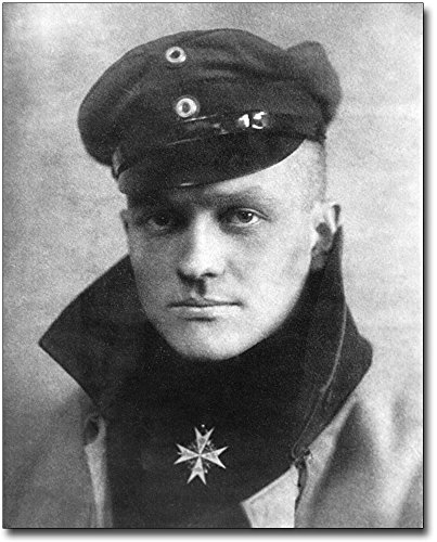 Red Baron Manfred von Richthofen Portrait 11x14 Silver Halide Photo - Rising Board Museum