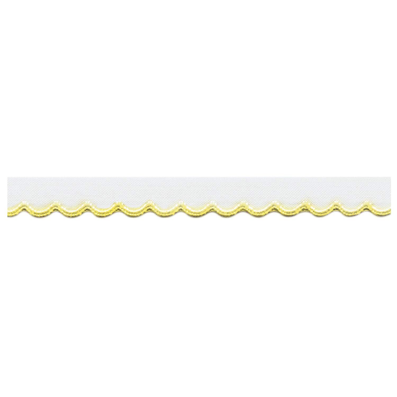 S.I.C. チロルテープ 12mm C/#46 ホワイト×イエロー 1反(30m) SIC-2000   B07NPQD8YS