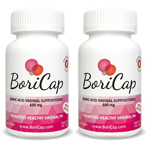 BoriCap Boric Acid Vaginal Suppositories | Capsules Size 00 | No Fillers, Flow Agents or Artificial Colors | Gynecologist Instructions Included | Made in the USA (2)