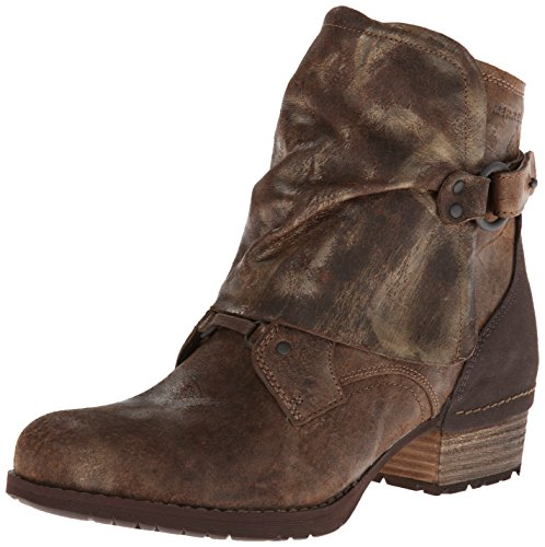 Merrell Women's Shiloh Cuff Boot,Brown/Gold,9 M US