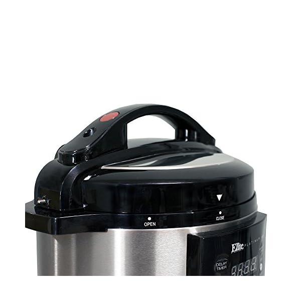 Elite Gourmet Pressure Cooker, 4 quart, Black 2