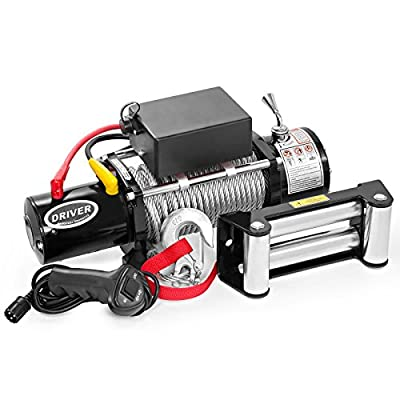 LD12-PRO Electric Heavy Duty Recovery Winch - 12,000 lbs. Capacity - Wired Remote Control - by Driver Recovery Products