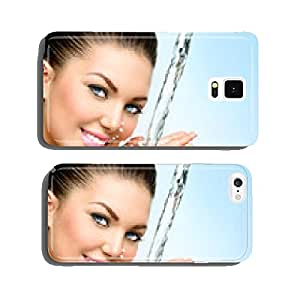Beautiful smiling girl under splash of water cell phone cover case iPhone6 Plus