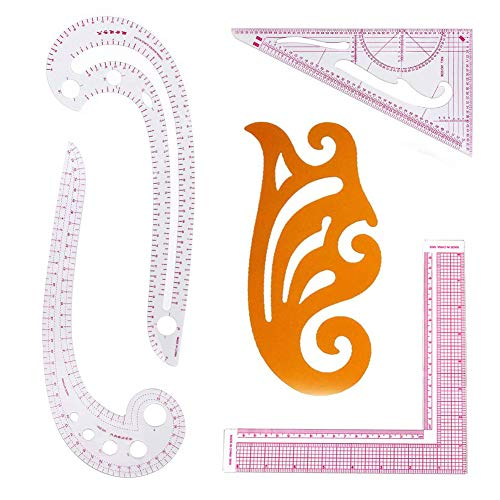 DIY Sewing Ruler Tailor Set French Curve Accessories, 5 Stlye Plastic Curve Stick Pattern Design