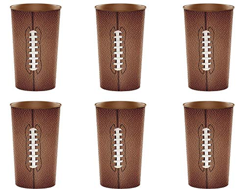 (Football Tailgate Party Large Plastic Cups - 32 Ounce - Set of)