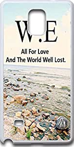 Samsung galaxy note 4 case quotes Dseason ,Fashion printing series,High quality hard plastic material W.E all for love and the world well lost.