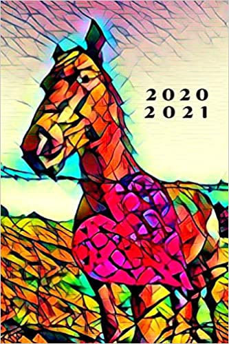 Usf Calendar 2020-2021 Colorful Romance Heart & Horse Stained Glass 25 Month Weekly
