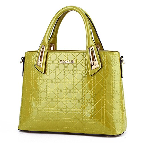 New QCKJ-Lorenz-Borsa a tracolla da donna in ecopelle, colore: verde