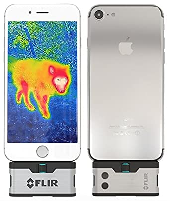 FLIR ONE iOS Thermal Imaging Camera for iPhone X, 8, 7 iPhone 7 Plus iPhone SE iPhone 6 iPhone 6 Plus iPhone 5 iPhone 5s Free POWERBANK Included