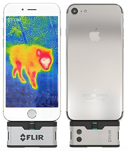 FLIR ONE iOS Thermal Imaging Camera for iPhone X, 8, 7 / iPhone 7 Plus/iPhone SE/iPhone 6 / iPhone 6 Plus/iPhone 5 / iPhone 5s Free POWERBANK Included! (Best Thermal Imaging Camera)