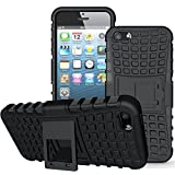 Apple iPhone 5/5S/SE Case,K-Xiang [with Built-in Kickstand] Armor Heavy Duty Rugged Dual Layer Hybrid Shockproof Case Protective Cover for Apple iPhone 5 5S SE (Black)