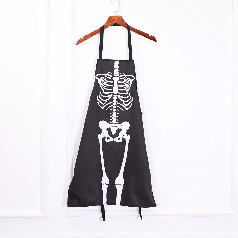 Lovewe 1PCS Kitchen Cosplay Horror Chef,Halloween Skeleton Apron Costume Party Supplies by Lovewe_Halloween Decoration (Image #2)