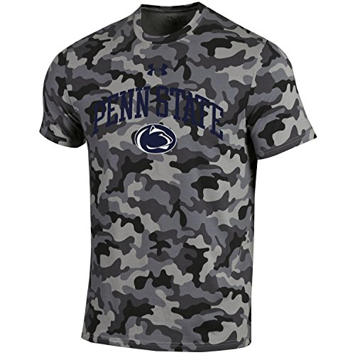 Under Armour NCAA Adult Short Sleeve Charged Cotton Grey Camouflage Performance Tee-Penn State Nittany (Penn State Camo)
