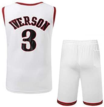 Camiseta De Baloncesto para Hombre Iverson Retro # 3 Jersey ...