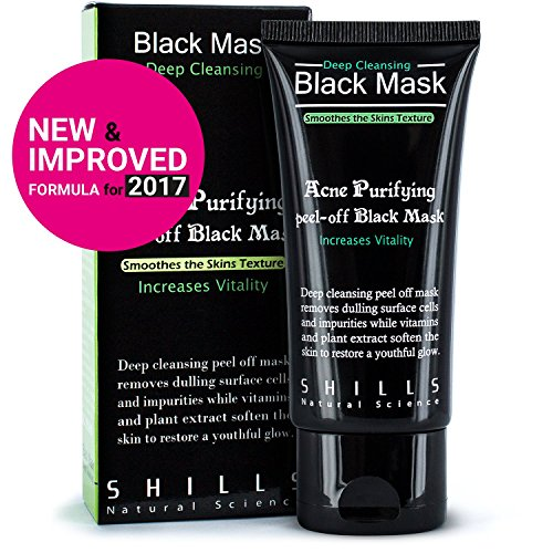 Diy Face Mask Activated Charcoal Powder Deep Cleanse Detox: SHILLS Original Peel Off Black Mask With Activated