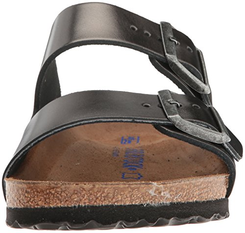 Birkenstock Unisex Arizona Metallic Anthracite Leather Sandals - 39 M EU / 8-8.5 B(M) US by Birkenstock (Image #4)