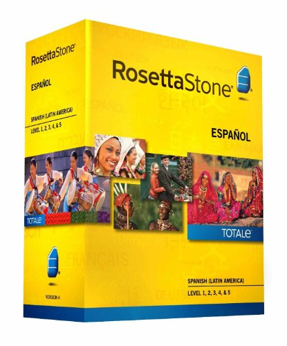 Rosetta Stone Spanish (Latin America) Espanol Version 4 Level 1-5 Set Latest Version by Rosetta Stone