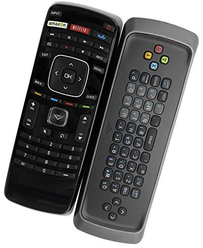 New XRT301 Qwerty Keyboard Remote Control for VIZIO 3D Smart TV M3D650SV, E3D470VX, E3D420VX, M3D550SL, M3D470KD M3D550SL M320SR E3D320VX E3D420VX E472VLE E552VLE XVT554SV M3D460SR XVT323SV M3D421SR