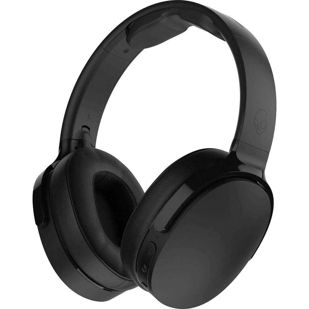 Skullcandy Hesh 3 Bluetooth Wireless Over-Ear Headphones with Microphone, Rapid Charge 22-Hour Battery, Foldable, Memory Foam Ear Cushions for Comfortable All-Day Fit, Black (S6HTW-K033)