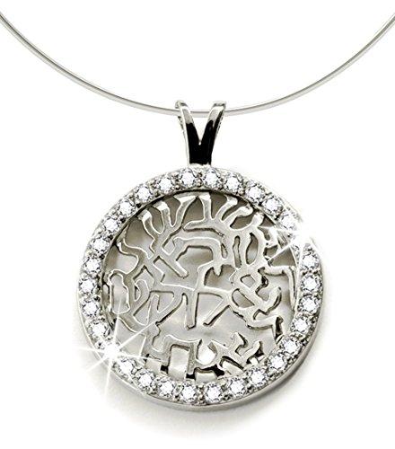 Sterling Silver Necklace Pendant Zirconias
