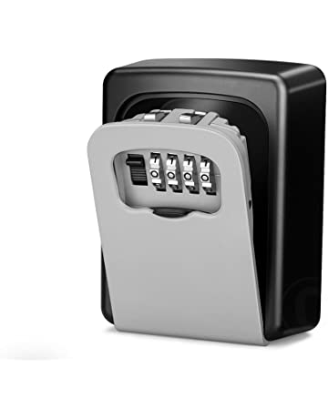 Wonyered Caja de Seguridad Cerradura Fuerte con 4 Numeros de Códigos para Guardar las Llaves Joyas