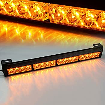 Amazon xprite 18 16 led emergency warning traffic advisor xprite 18 16 led emergency warning traffic advisor vehicle led strobe light bar amber mozeypictures Gallery