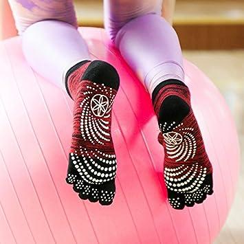 GuiXinWeiHeng 6 unids Calcetines de Punta de Yoga Deportivo Calcetines de Cinco Dedos Calcetines Antideslizantes Antideslizantes de Yoga Calcetines de Yoga ...