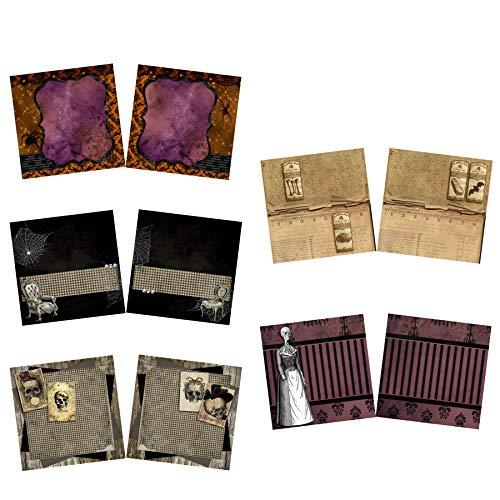 Pretty Creepy NPM - Halloween Scrapbook Set - 5 Double Page Layouts -