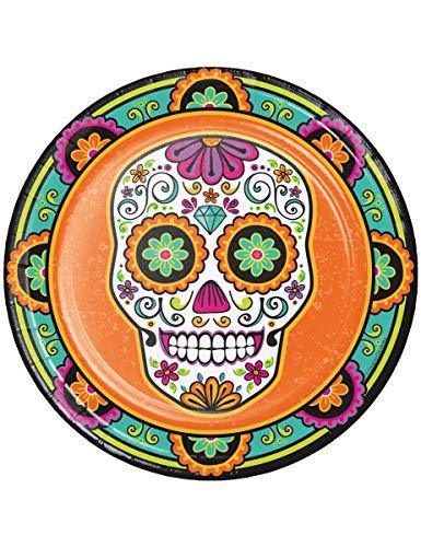 Dia De Los Muertos Day Dead Halloween Skull 8 Ct 9