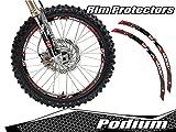 Senge Graphics Podium Red rim protector set for one 19 inch rim and one 21 inch rim