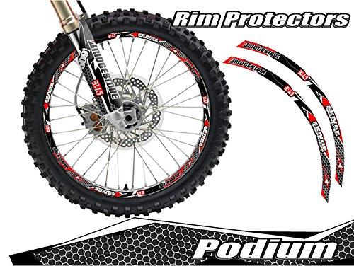 (Senge Graphics Podium Red rim protector set for one 19 inch rim and one 21 inch rim)