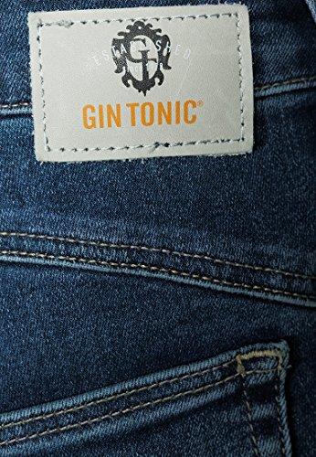 GIN TONIC - Vaqueros - Efecto teñido - para mujer mid blue wash