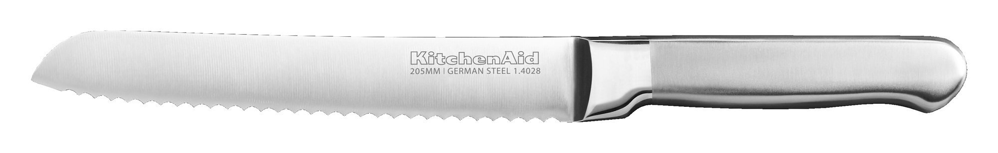 KitchenAid KKFSS8BRST Classic Forged Series Brushed Serrated Bread Knife, Stainless Steel, 8''