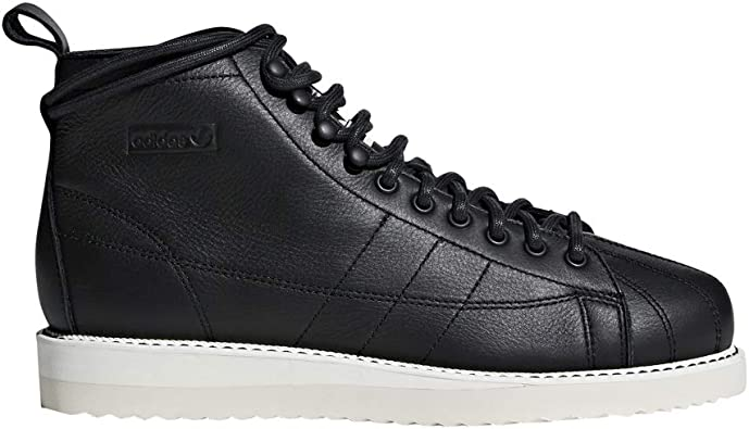 Black Leather Superstar Boots Shoes | Boots