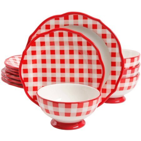 The Pioneer Woman 12-Piece Ceramic Dinnerware Set, Charming