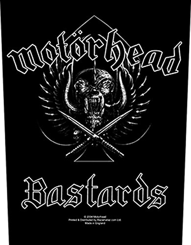 Motorhead Back Bastards Patch Black Officially Liscenced Product