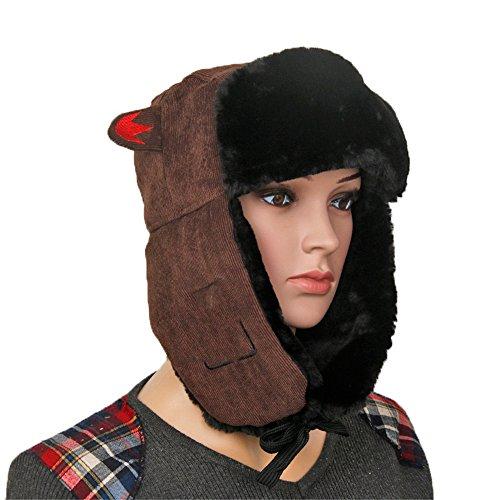gris sombreros de Halloween Hombres de Brown gruesas almohadillas invierno gorros beanie sombreros Navidad Señoras MASTER invierno gorros caliente HBxanH