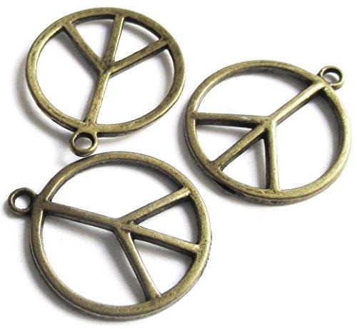 Bicycle Beads DIY Charms Pendants (44 Pcs Brass Circle Pendants - Diy Brass