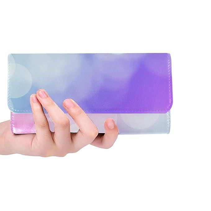 Amazon.com: Monedero largo para mujer, diseño de burbujas ...