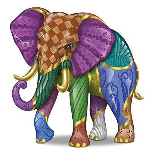 - Keith Mallett Triumphant Tapestry Elephant Figurine by The Hamilton Collection
