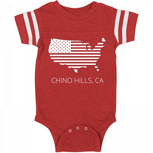 FUNNYSHIRTS.ORG July 4th USA Chino Hills, CA Pride: Infant Rabbit Skins Football - Ca Hills City Chino Of