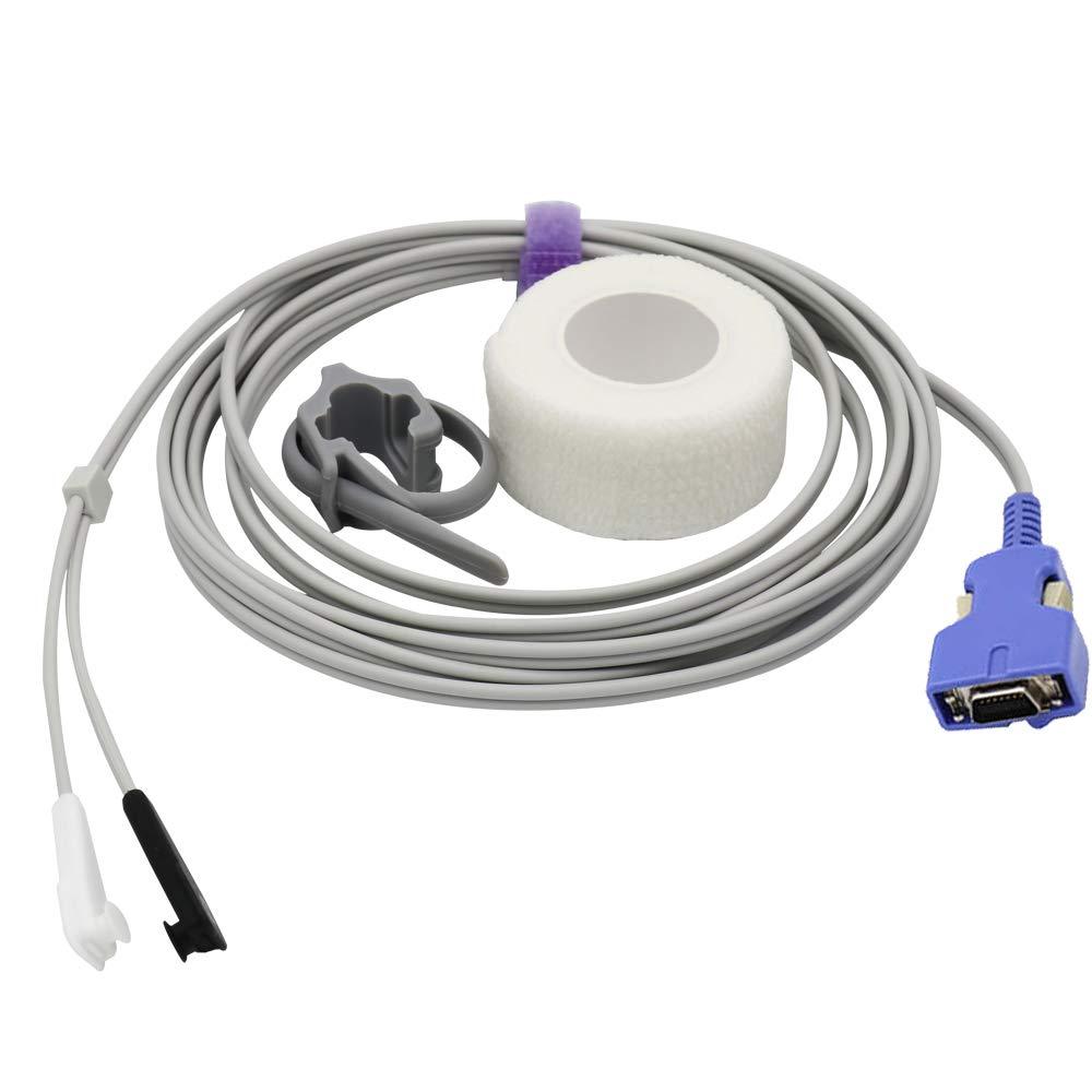 Compatible for Nellcor SpO2 Sensor Multi-Y 9.8 ft 14 Pins Connector