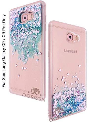 c63f21504 DORRON Glitter Bling Stylish Designer Transparent Liquid Waterfall Soft  Sides Fancy Back Case Cover for Samsung