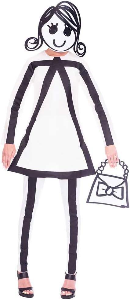 amscan Disfraz de Figura de Palo para Mujer con Bolso Mardi Gras ...