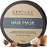 DRMTLGY Hair Mask with Shea Butter and Fractionated Coconut Oil. Deep Conditioning and Nourishing Hair Treatment for Dry, Damaged Hair.
