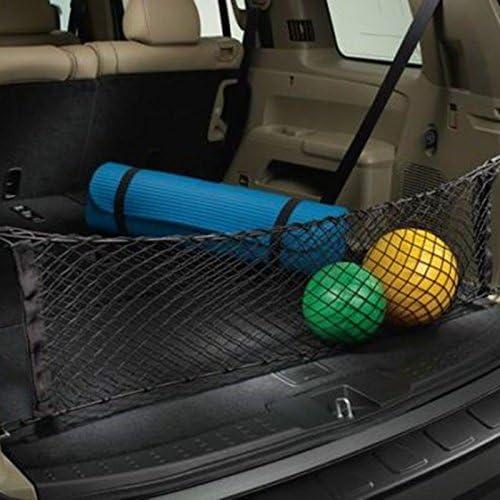 Exquileg Flexibel Auto Kofferraum Netz Gepäcknetz Aufbewahrung Netz Mit 4 Haken Inkl 4 Ersatz Rundknöpfe 90x40cm Auto