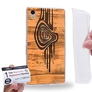 Case88 [Sony Xperia Z3+ / Z4] Gel TPU Carcasa/Funda & Tarjeta de garantía - Art Print Kaleidoscope 2 Wood Art 2594