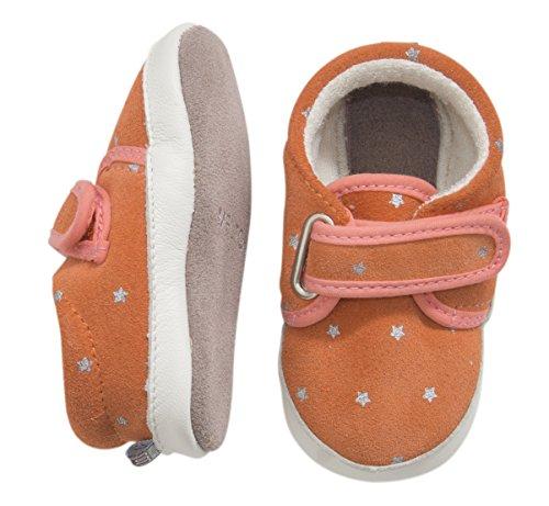 MOVE BY MELTON Suede shoe, Skeat Hausschuhe - Patucos de cuero para niña naranja - Orange (615/Fusion Coral)